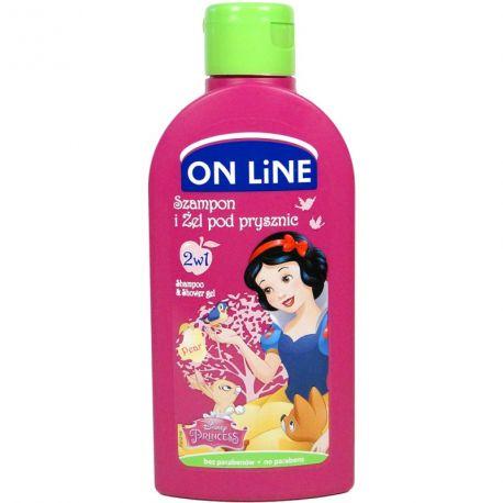 On line kids Sněhurka 2v1 šampon a sprchový gel Hruška