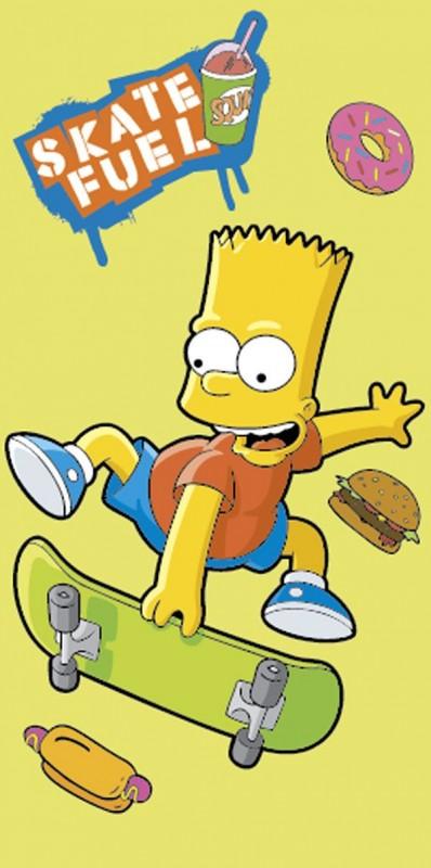 Osuška Bart Simpson Skate Yellow