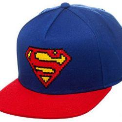 Čepice Baseballová Kšiltovka Rap Superman Modro-Červená