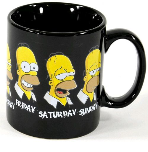 Hrnek Keramický Week Simpsnovi / The Simpsons 320 Ml Černý / The Last Perfect Man