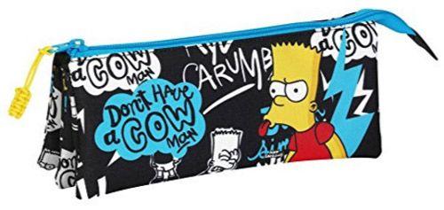 Penál Na Tužky Trojdílný Bart Simpsnovi / The Simpsons