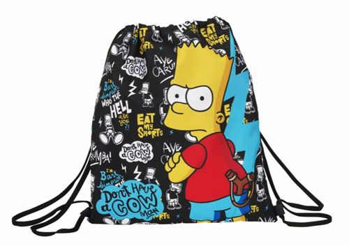 Pytlík / Vak / Gym Bag Bart Simpsnovi / The Simpsons Černý