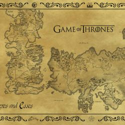 PLAKÁT 61 x 91,5 cm HRA O TRŮNY / GAME OF THRONES MAPA