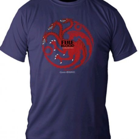 TRIČKO PÁNSKÉ HRA O TRŮNY / GAME OF THRONES FIRE AND BLOOD MODRÉ M