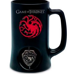 Keramický Korbel Hra O Trůny / Game Of Thrones Targaryen Černý 500 Ml
