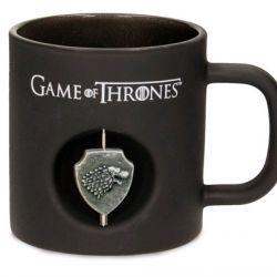 Hrnek Keramický Hra O Trůny / Game Of Thrones 3D Logo Lannister 320 Ml Černý