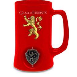 Keramický Korbel Hra O Trůny / Game Of Thrones 3D Logo Červený 500 Ml