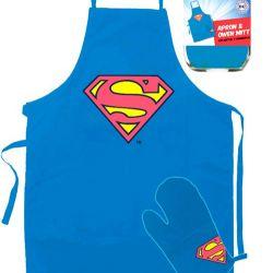 Kuchyňský Set Superman Logo Modrý