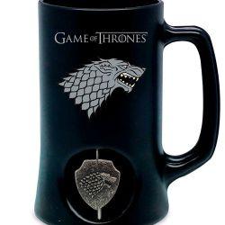 Keramický Korbel Hra O Trůny / Game Of Thrones Stark Černý 500 Ml