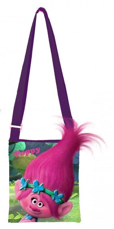 Malá taška přes rameno Trollové / Trolls Poppy s chocholkou 20 cm / vecizfilmu