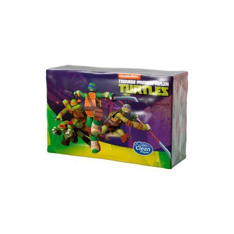 Kapesníky Želva Ninja s potiskem 4 vrstvé, folie 6 ks
