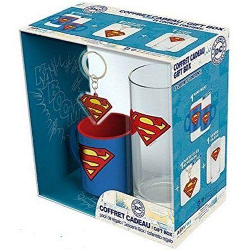 Dárkový Set Hrnek Sklenice Superman