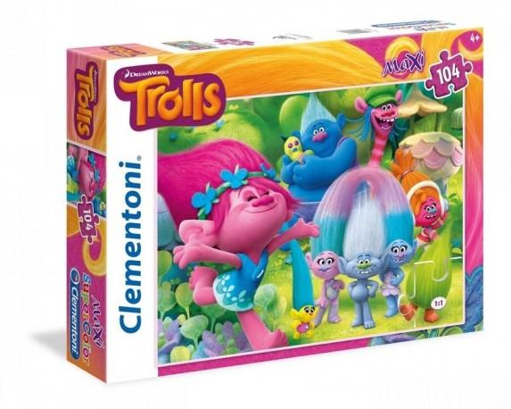Puzzle Trollové Poppy 104 dílků