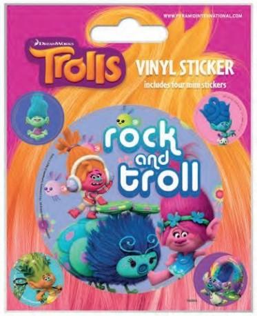 Sada nálepek Trollové Rock