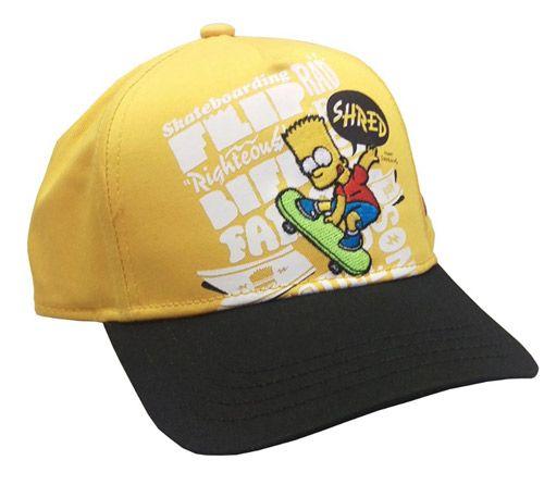 Čepice Baseballová Simpsnovi / The Simpsons Bart Žlutá Dětská Uni