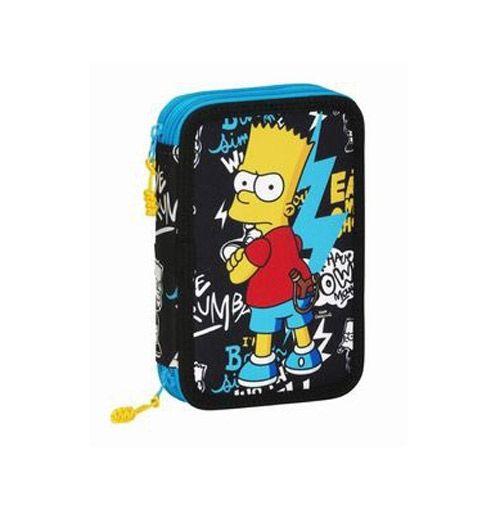 Pouzdro Školní Vybavené Simpsnovi / The Simpsons Bart Černé