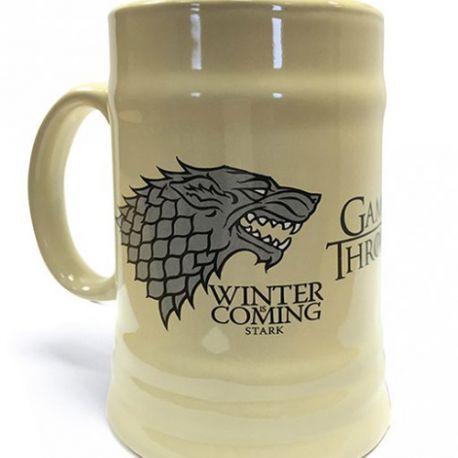 Keramický Korbel Hra O Trůny / Game Of Thrones Winter Is Coming Krémový 595 Ml