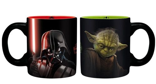 2 Ks Hrnek Mini Keramický Star Wars Vader & Yoda 110 Ml