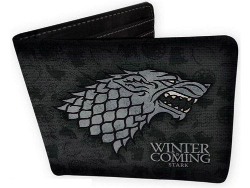 Peněženka Otevírací Hra O Trůny / Game Of Thrones Stark Černá  11 X 9,5 Cm