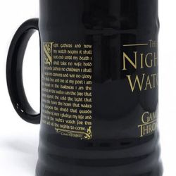 Keramický Korbel Hra O Trůny Game Of Thrones Nights Watch Černý 340 Ml