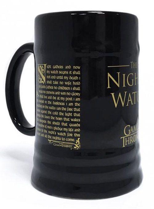 KERAMICKÝ KORBEL HRA O TRŮNY GAME OF THRONES NIGHTS WATCH ČERNÝ 340 ML