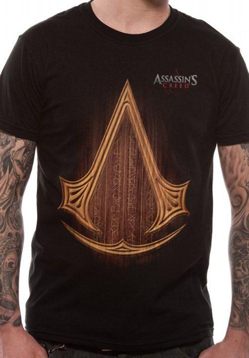 15cf8b54635 Tričko Pánské Assassins Creed Icon Logo Černé Xl