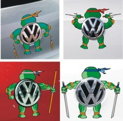 Nálepka Na Auto Želvy Ninja