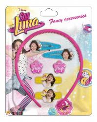 Vlasové doplňky Soy Luna Pink
