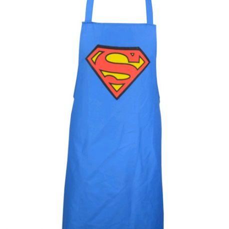 KUCHYŇSKÁ ZÁSTĚRA SUPERMAN MODRÁ 83 x 74 cm