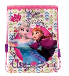 Taštička / pytlík na svačinu Frozen Anna A Elsa 24 x 29 cm / vecizfilmu