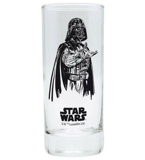 Sklenice Sklo Čiré Star Wars Darth Vader 290 Ml