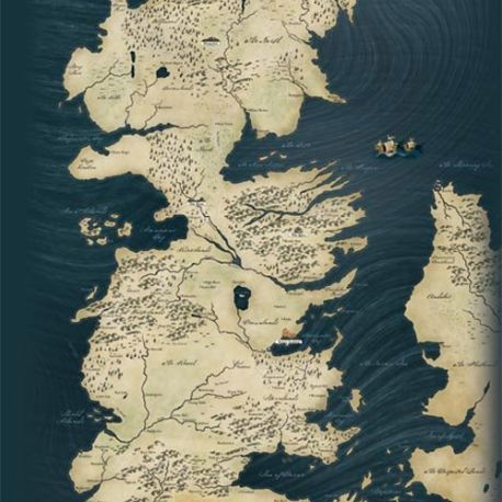 PLAKÁT HRA O TRŮNY / GAME OF THRONES MAP 61 x 91,5 cm