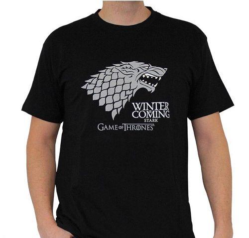 Tričko Pánské Hra O Trůny / Game Of Thrones Winter Is Coming Černé M