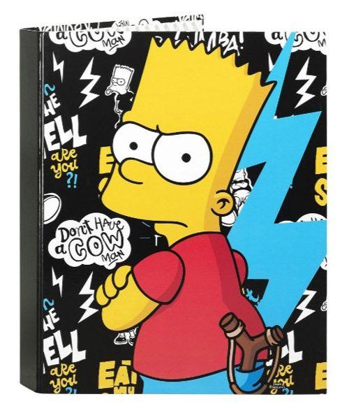 Kroužkový Pořadač A4 Simpsnovi / The Simpsons Bart Černý