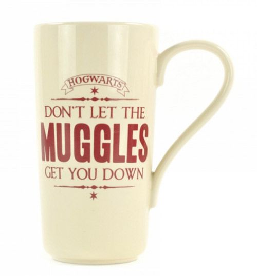 Hrnek Latte Harry Potter Muggles Béžový 750 Ml