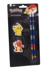 Sada školních potřeb Pokemon Tužky a gumy