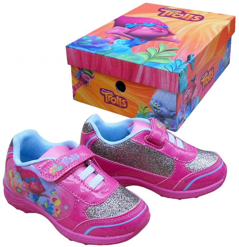 Sportovní boty / tenisky Trollové / Trolls Poppy růžové vel. 28