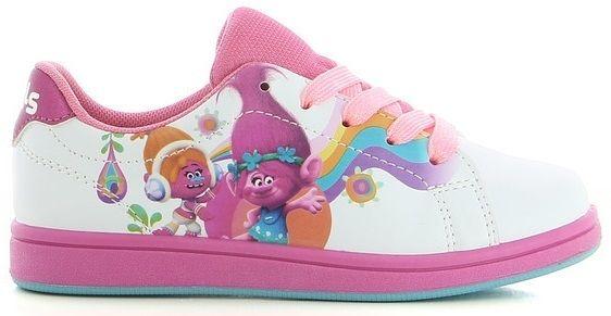 Sportovní boty / tenisky Trollové / Trolls Poppy Suki bílé vel. 25