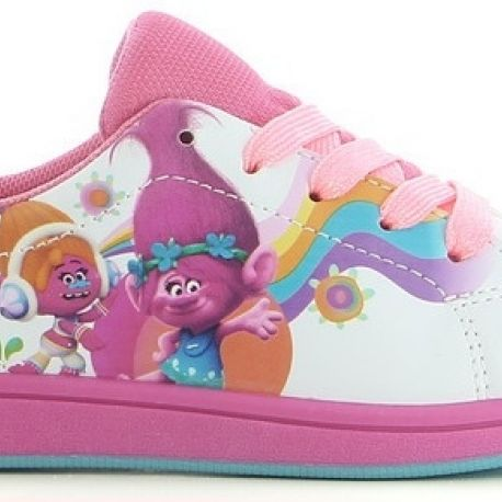 Sportovní boty / tenisky Trollové / Trolls Poppy Suki bílé vel. 28