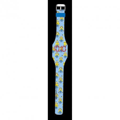 LED hodinky Mimoni Modré
