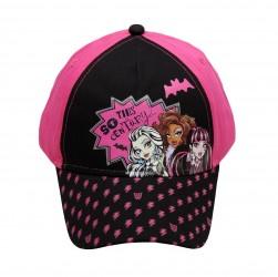 Dívčí Kšiltovka Černo / Růžová Monster High