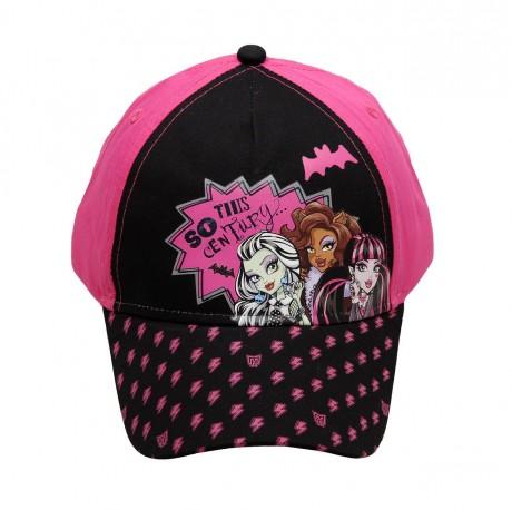 Dívčí kšiltovka černo/růžová Monster High