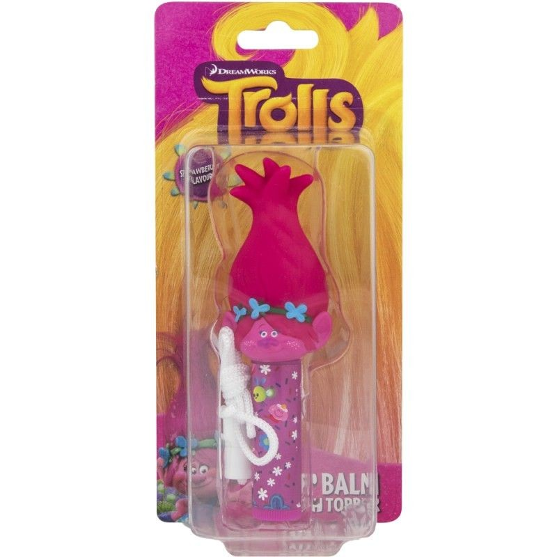 Pomáda na rty na šňurce růžová Trollové Poppy