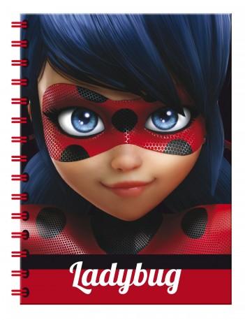 Čtverečkovaný A4 blok / notes Miraculous Ladybug / Zázračná beruška 80 listů