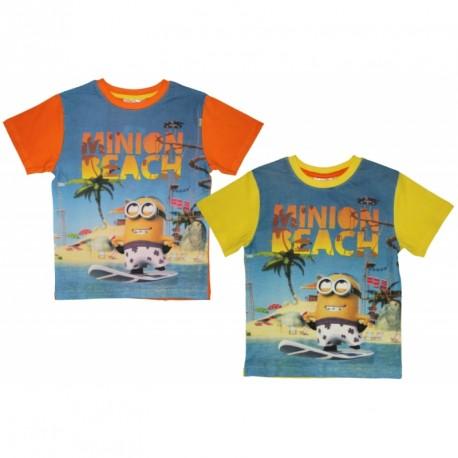 Tričko s krátkým rukávem Minion Beach / Mimoni / Black Friday