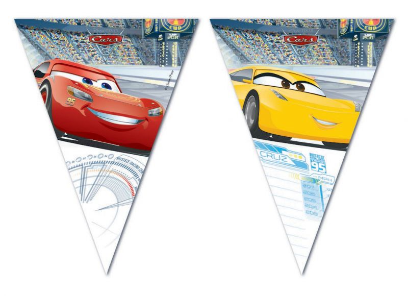 Girlanda / Vlajky Auta / Cars 2,3 M