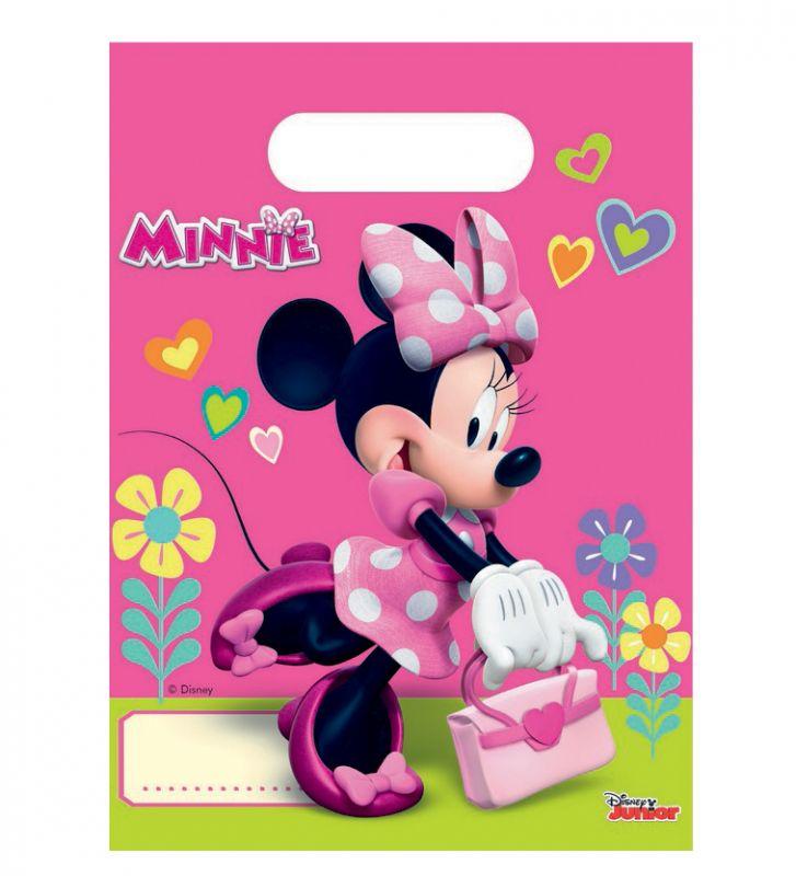 Párty taška 6 ks Minnie Mouse růžová 16 x 22 cm