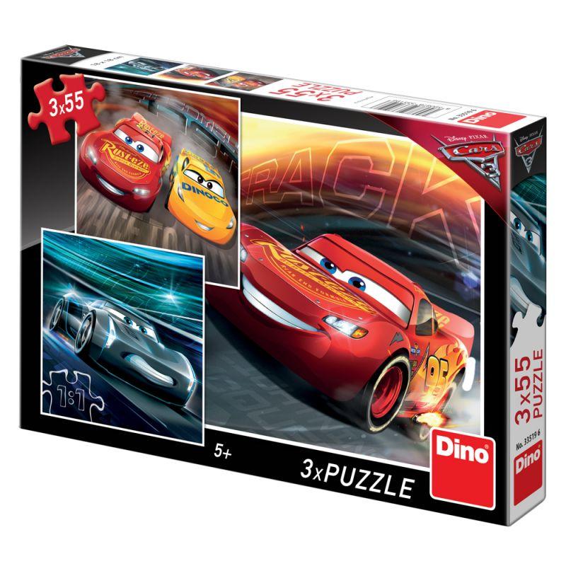Puzzle 3 X 55 Dílků Auta / Cars 3 - Trénink