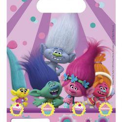 Párty Taška 6 Ks Trollové / Trolls 16,5 X 23 Cm
