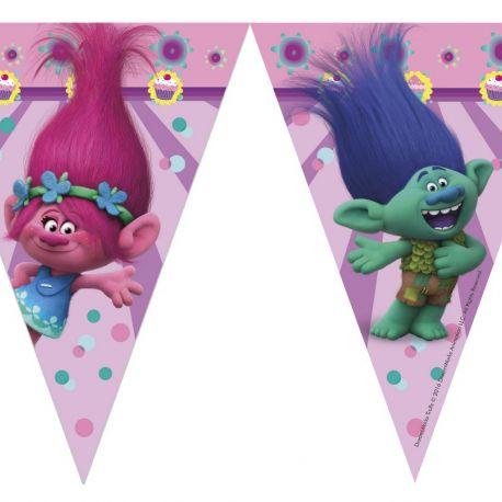Girlanda / vlajky Trollové / Trolls 2,3